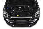 Car Stock 2020 MINI Countryman Cooper-SE-JCW 5 Door SUV Engine  high angle detail view