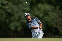 29th August 2020, Olympia Fields, Illinois, USA;  Hideki Matsuyama of Japan chips the ball onto the 10th green during the third round of the BMW Championship on the North Course at Olympia Fields Country Club