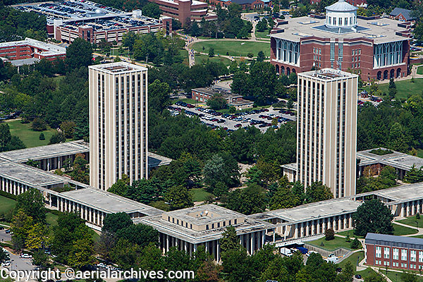 aerial photograph, University of Kentucky, Lexington, Kentucky