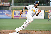 South Bend Silver Hawks outfielder Socrates Brito (20) during a game against the Bowling Green Hot Rods on August 20, 2013 at Stanley Coveleski Stadium in South Bend, Indiana.  Bowling Green defeated South Bend 3-2.  (Mike Janes/Four Seam Images)