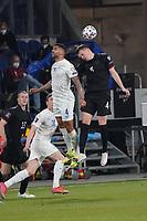 Victor Palsson (Island Iceland) gegen Matthias Ginter (Deutschland Germany) - 25.03.2021: WM-Qualifikationsspiel Deutschland gegen Island, Schauinsland Arena Duisburg