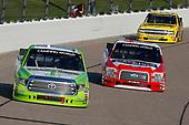 #16: Brett Moffitt, Hattori Racing Enterprises, Toyota Tundra Destiny Homes and #13: Myatt Snider, ThorSport Racing, Ford F-150