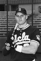 Eric Byrnes of the UCLA Bruins at Jackie Robinson Stadium in Los Angeles,California during the 1996 season. (Larry Goren/Four Seam Images)