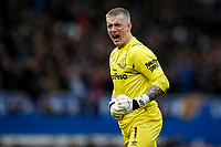 Jordan Pickford of Everton celebrates his side's second goal to make the score 2-0 during the Premier League match between Everton and West Ham United at Goodison Park on October 19th 2019 in Liverpool, England. (Photo by Daniel Chesterton/phcimages.com)<br /> Foto PHC/Insidefoto <br /> ITALY ONLY