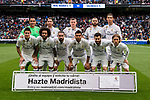 Players of Real Madrid line up and pose for a photo priory to the La Liga match between Real Madrid and Valencia CF at the Santiago Bernabeu Stadium on 29 April 2017 in Madrid, Spain. Photo by Diego Gonzalez Souto / Power Sport Images