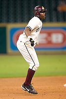 Arizona State center fielder Jarred Bogany (55) takes his lead off of second base in game action versus Texas A&M at the 2007 Houston College Classic at Minute Maid Park in Houston, TX, Friday, February 9, 2007.  Arizona State defeated Texas A&M 5-4.