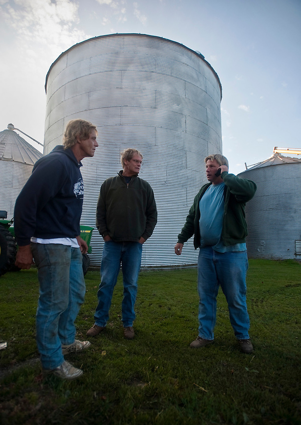 The Greenfield brothers.<br /> on their farm in Skaneateles New York.