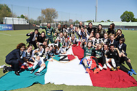 Juventus players .  Celebration at the end of the match . <br /> Verona 20-4-2019 Stadio AGSM Olivieri <br /> Football Women Serie A Hellas Verona - Juventus <br /> Juventus win italian championship <br /> Photo Daniele Buffa / Image Sport / Insidefoto