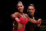Maxim Stepanov and Emma-Leena Koger of Germany during the WDSF GrandSlam Latin on the Day 1 of the WDSF GrandSlam Hong Kong 2014 on May 31, 2014 at the Queen Elizabeth Stadium Arena in Hong Kong, China. Photo by AItor Alcalde / Power Sport Images