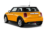 Car pictures of rear three quarter view of 2017 MINI Cooper 3-door 3 Door Hatchback Angular Rear