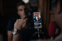 Marcel Kittel (DEU/QuickStep Floors) during a live online interview on the first restday in the team hotel<br /> <br /> 104th Tour de France 2017<br /> first restday