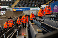 Stewards <br /> Re: Behind the Scenes Photographs at the Liberty Stadium ahead of and during the Premier League match between Swansea City and Bournemouth at the Liberty Stadium, Swansea, Wales, UK. Saturday 25 November 2017