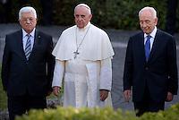 Pope Francis  Palestinian leader Mahmud Abbas   Israeli President Shimon Peres  Vatican.June 8,2014