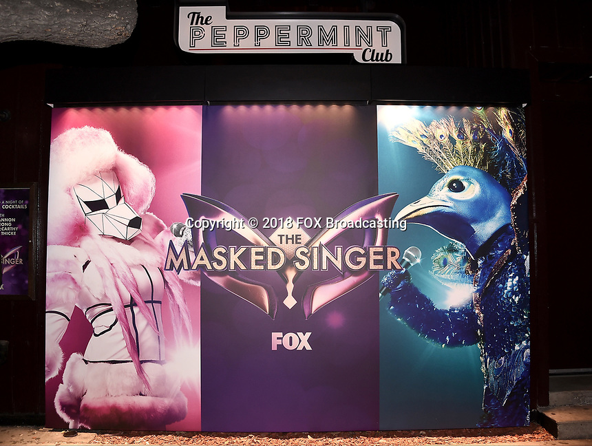WEST HOLLYWOOD, CA - DECEMBER 13: Behind the scenes at the premiere karaoke event for season one of THE MASKED SINGER on Thursday, Dec.13 at The Peppermint Club in West Hollywood, California. (Photo by Scott Kirkland/FOX/PictureGroup)