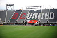 WASHINGTON, DC - AUGUST 25: Empty Audi Field during a game between New England Revolution and D.C. United at Audi Field on August 25, 2020 in Washington, DC.
