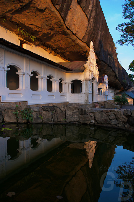 Dambulla Cave Temple Sri Lanka dating to the first Century BC.