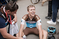 that's a hard finish up the Mur de Huy > just ask Benoît Cosnefroy (FRA/AG2R-La Mondiale)...<br /> <br /> 83rd La Flèche Wallonne 2019 (1.UWT)<br /> One day race from Ans to Mur de Huy (BEL/195km)<br /> <br /> ©kramon