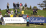 JEJU, SOUTH KOREA - APRIL 23:  Thongchai Jaidee of Thailand tees off on the 5th hole during the Round Two of the Ballantine's Championship at Pinx Golf Club on April 23, 2010 in Jeju island, South Korea. Photo by Victor Fraile / The Power of Sport Images