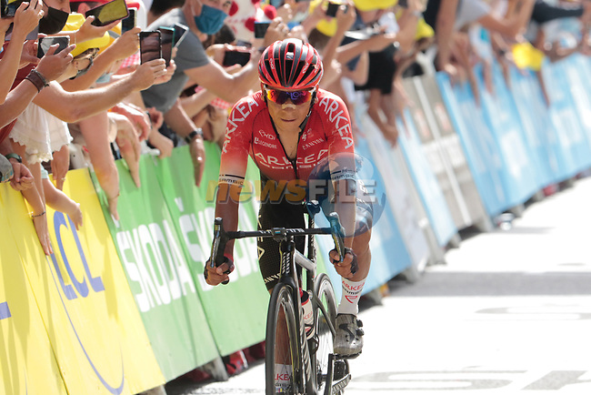 Nairo Quintana (COL) Team Arkea-Samsic finishes 6th at the end of Stage 15 of the 2021 Tour de France, running 191.3km from Céret to Andorre-La-Vieille, Andorra. 11th July 2021.  <br /> Picture: Colin Flockton | Cyclefile<br /> <br /> All photos usage must carry mandatory copyright credit (© Cyclefile | Colin Flockton)