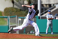 Pitcher Tony Bucciferro #41 of the Michigan State Spartans during the Big East-Big Ten Challenge vs. the Seton Hall Pirates at Al Lang Field in St. Petersburg, Florida;  February 19, 2011.  Michigan State defeated Seton Hall 5-4.  Photo By Mike Janes/Four Seam Images