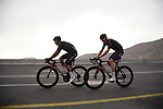 Andrey Amador (CRC) and Luke Rowe (WAL) Ineos Grenadiers climb the final 4km of Jais Mountain during Stage 5 of the 2021 UAE Tour running 170km from Fujairah to Jebel Jais, Ras Al Khaimah, UAE. 25th February 2021.  <br /> Picture: Eoin Clarke   Cyclefile<br /> <br /> All photos usage must carry mandatory copyright credit (© Cyclefile   Eoin Clarke)
