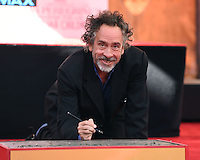 Tim Burton @ hand and foot prints ceremony held @ the TCL Chinese theatre. September 8, 2016