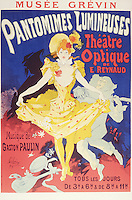Poster advertising 'Pantomimes Lumineuses, Theatre Optique de E. Reynaud' at the Musee Grevin, printed by Chaix, Paris, 1892 (colour litho)