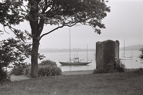 Strangford Village was first port of call for Bloodhound when bound south from Belfast. Photo: W M Nixon