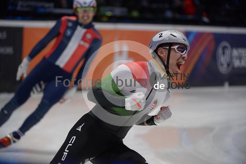 SPEEDSKATING: DORDRECHT: 07-03-2021, ISU World Short Track Speedskating Championships, Final A 1000m Men, Shaolin Sandor Liu (HUN), ©photo Martin de Jong