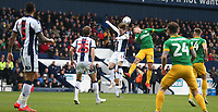 Preston North End's Ryan Ledson battles with West Bromwich Albion's Stefan Johansen<br /> <br /> Photographer Stephen White/CameraSport<br /> <br /> The EFL Sky Bet Championship - West Bromwich Albion v Preston North End - Saturday 13th April 2019 - The Hawthorns - West Bromwich<br /> <br /> World Copyright © 2019 CameraSport. All rights reserved. 43 Linden Ave. Countesthorpe. Leicester. England. LE8 5PG - Tel: +44 (0) 116 277 4147 - admin@camerasport.com - www.camerasport.com
