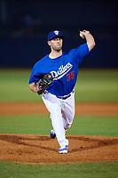 Tulsa Drillers relief pitcher Jeremy Bleich (35) delivers a pitch during a game against the Corpus Christi Hooks on June 3, 2017 at ONEOK Field in Tulsa, Oklahoma.  Corpus Christi defeated Tulsa 5-3.  (Mike Janes/Four Seam Images)