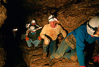 Spelunkers, Mammoth Cave N.P., Kentucky