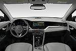 Stock photo of straight dashboard view of 2020 KIA Niro-Plug-In-Hybrid EX-Premium 5 Door Hatchback Dashboard
