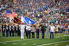 Aug. 30, 3014; Color guard at the season opening football game against Rice..Photo by Peter Ringenberg/University of Notre Dame