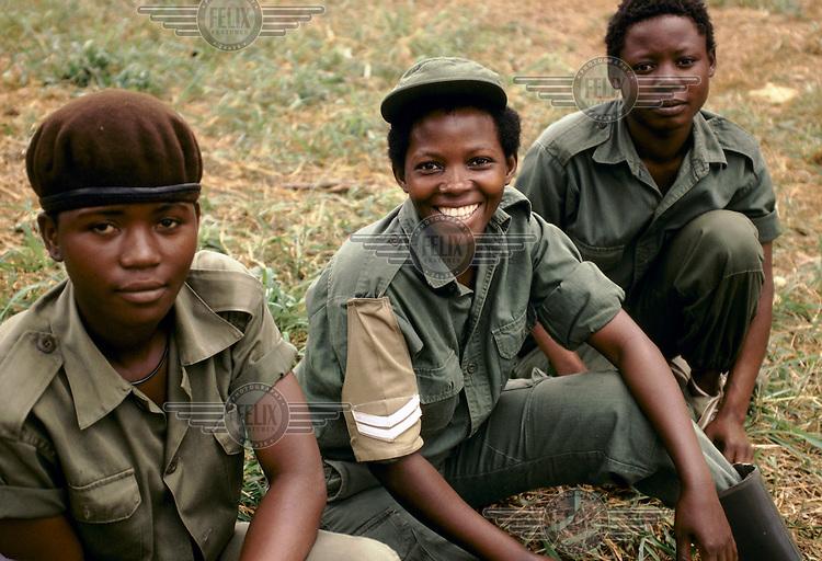 Female Uganda Army soldiers.