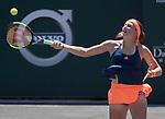 April 9,2017:   Jelena Ostapenko (LAT) loses to Daria Kasatkina (RUS) 6-3, 6-1, at the Volvo Car Open being played at Family Circle Tennis Center in Charleston, South Carolina.  ©Leslie Billman/Tennisclix/Cal Sport Media