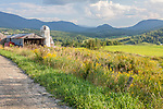 Farmland under the Green Mountains in Cambridge, VT, USA