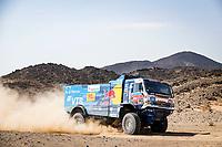 6th January 2021; Wadi Al Dawasir to Riyadh, Saudia Arabia; Dakar 2021 Rally, stage 4;  501 Shibalov Anton (rus), Nikitin Dmitrii (rus), Tatarinov Ivan (rus), Kamaz, Kamaz - Master, Camion, Truck, action during the 4th stage of the Dakar 2021 between Wadi Al Dawasir and Riyadh, in Saudi Arabia on January 6, 2021