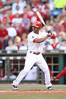 June 18, 2008: Cincinnati Reds center fielder Corey Patterson (23) at The Great American Ballpark in Cincinnati, OH.  Photo by: Chris Proctor/Four Seam Images