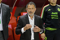 Bridgeview, IL, USA - Tuesday, October 11, 2016:  Mexico manager Juan Carlos Osorio before an international friendly soccer match between Mexico and Panama at Toyota Park. Mexico won 1-0.