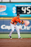Richmond Flying Squirrels shortstop Ryan Howard (8) during a game against the Trenton Thunder on May 11, 2018 at The Diamond in Richmond, Virginia.  Richmond defeated Trenton 6-1.  (Mike Janes/Four Seam Images)