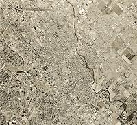 historical aerial photograph San Jose, California, 1968