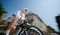 iTT World Champion Tony Martin (DEU) flying<br /> <br /> Tour de France 2013<br /> stage 11: iTT Avranches - Mont Saint-Michel <br /> 33km