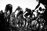 traffic jam up the Koppenberg<br /> <br /> Elite Men's race<br /> Koppenbergcross 2015