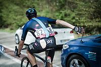 David de la Cruz (ESP/SKY) returning to the pack after a crash<br /> <br /> 83rd La Flèche Wallonne 2019 (1.UWT)<br /> One day race from Ans to Mur de Huy (BEL/195km)<br /> <br /> ©kramon