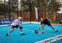 Netherlands, September 5,  2020, Amsterdam, Padel Dam, NK Padel, National Padel Championships,  Tiemen van Ingen (NED) and Stijn Simons (NED)<br /> Photo: Henk Koster/tennisimages.com