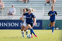 CARY, NC - SEPTEMBER 12: Rocky Rodriguez #11 of the Portland Thorns gives chase as Denise O'Sullivan #8 of the NC Courage dribbles the ball during a game between Portland Thorns FC and North Carolina Courage at Sahlen's Stadium at WakeMed Soccer Park on September 12, 2021 in Cary, North Carolina.