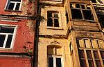Beyoglu Old Houses 01 - Old houses in the backstreets of Beyoglu, Istanbul, Turkey
