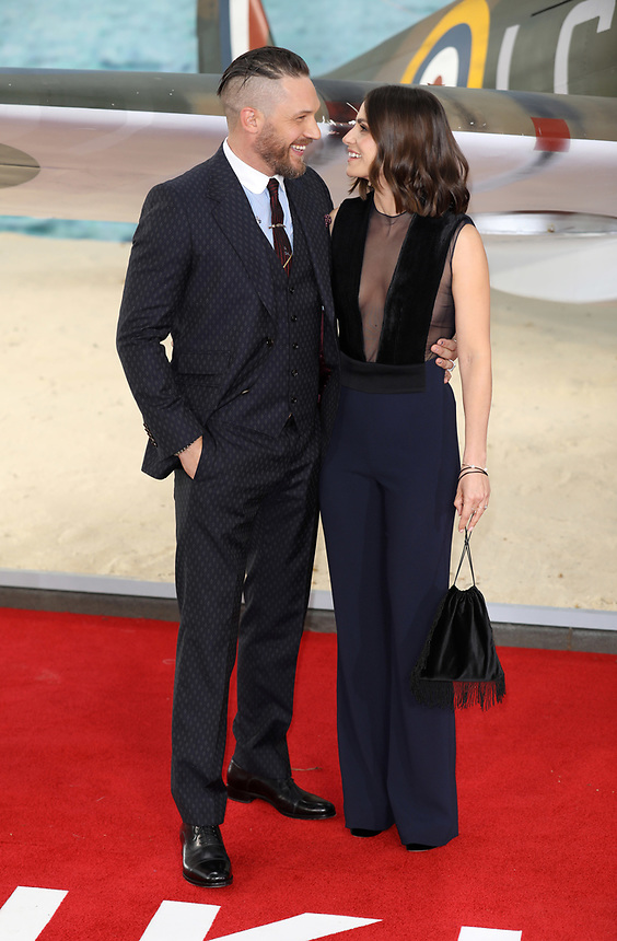 """Tom Hardy and Charlotte Riley<br /> at the """"Dunkirk"""" World Premiere at Odeon Leicester Square, London. <br /> <br /> <br /> ©Ash Knotek  D3289  13/07/2017"""