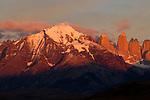 Mountain range, Torres del Paine, Torres del Paine National Park, Patagonia, Chile